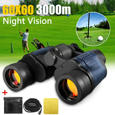60x60 Zoom Coordinate HD Binoculars Day / Low-Light Night Vision Hunting Camping Outdoor Telescope with Pouch, Great