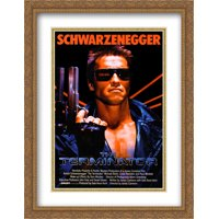 The Terminator 28x36 Double Matted Large Gold Ornate Framed Movie Poster Art Print