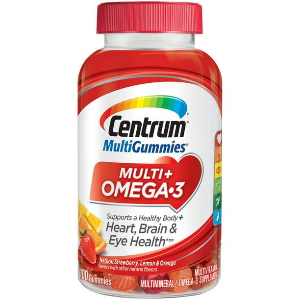 Centrum Multigummies Omega 3 Gummies For Adults Adult