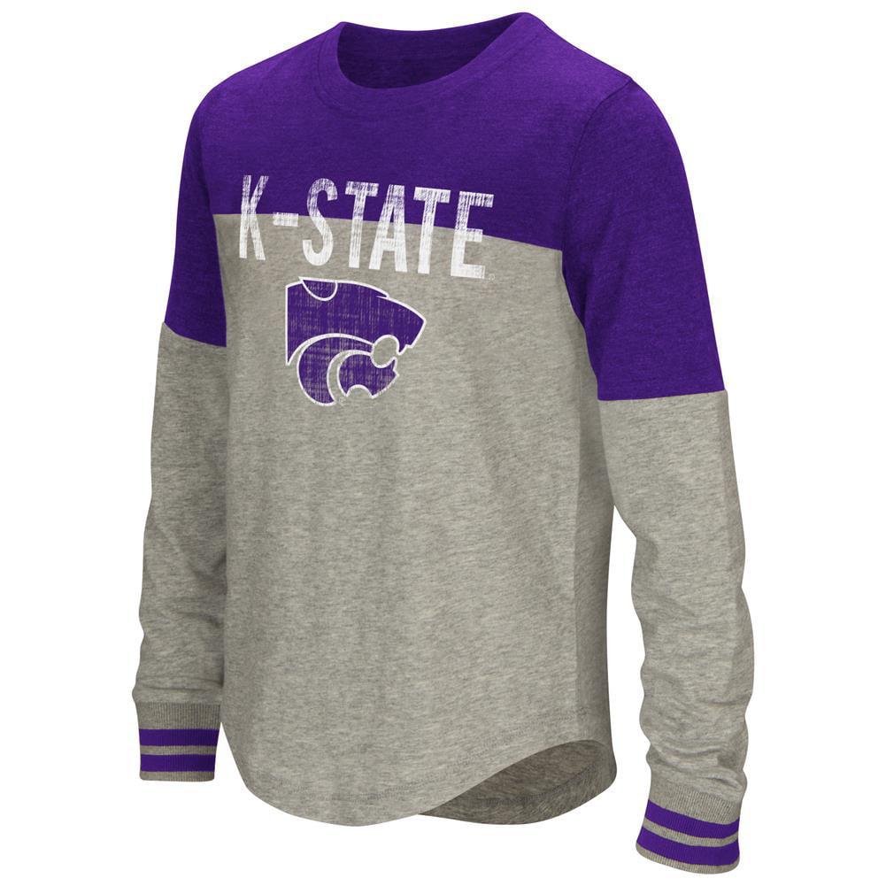 Youth Girls' Baton Kansas State University Long Sleeve Shirt