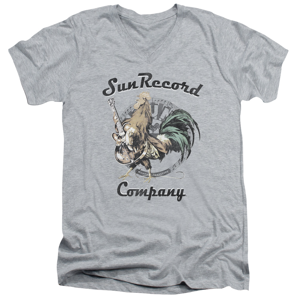 Sun Records Media Company Record Label Rocking Rooster Juniors Sheer T-Shirt Tee
