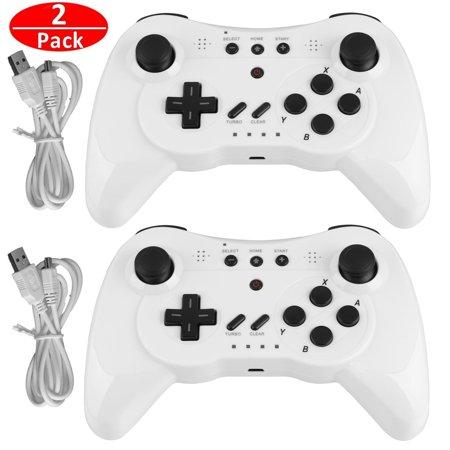 Wii Wireless Controller (Wireless Pro Controller Gamepad Joypad Joystick Remote Control for Nintendo Wii U)