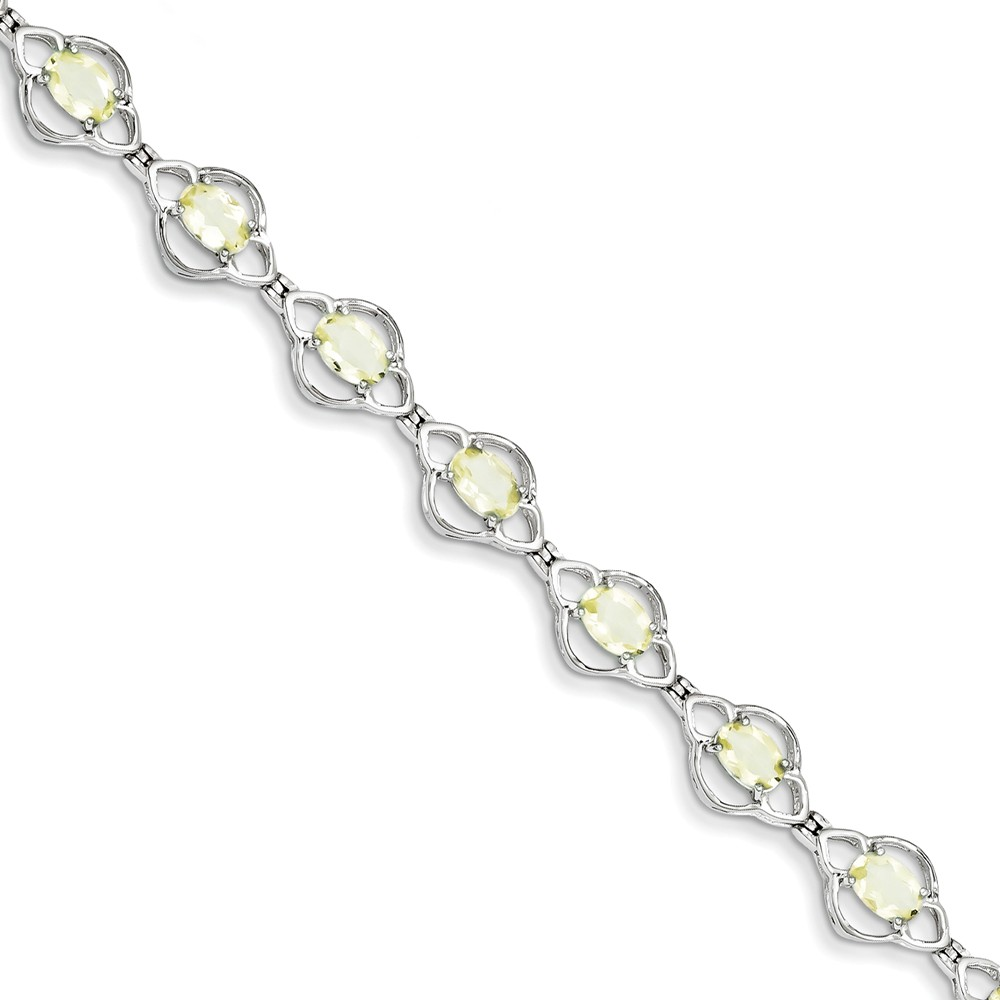 Sterling Silver Lemon Quartz Bracelet. Gem Wt- 4.39ct