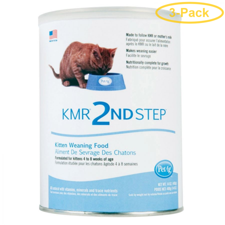PetAg KMR 2nd Step Weaning Formula for Kittens 14 oz - Pack of 3 ()