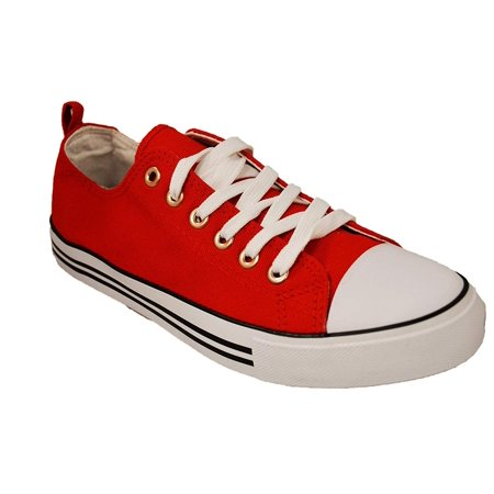 Haughty Canvas Shoes for Women Fashion Walking Shoes Ladies Sneaker Low Top HaughtyMWC-Classic Red-9