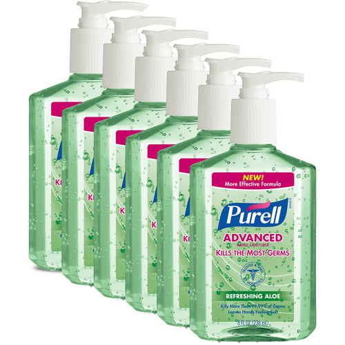 (Pack of 6) PURELL Advanced Refreshing Aloe Hand Sanitizer, 8 Oz by Generic