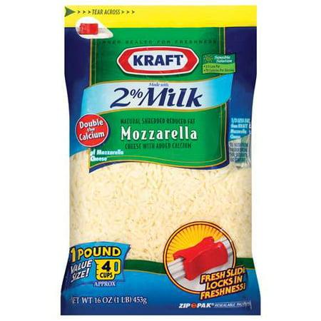 Kraft 2% Milk Shredded Mozzarella Cheese, 16 - Kraft Mozzarella