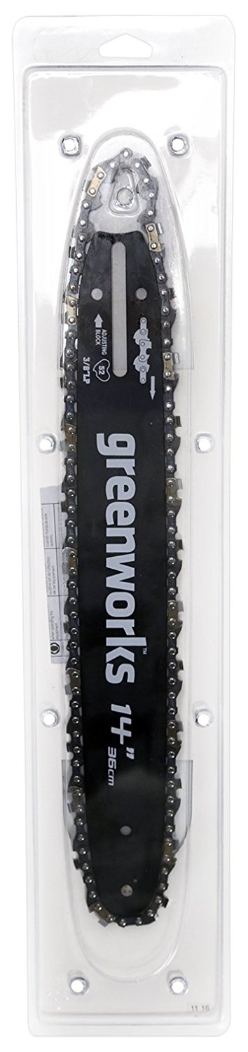 Buy Greenworks 14-Inch Chainsaw Bar and Chain Combo 2904702 by Sunrise Global Marketing, LLC