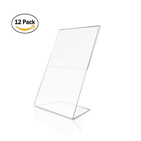 Wynmarts Acrylic 4x6 Sign Holders Picture Frames In Bulk 12 Packs