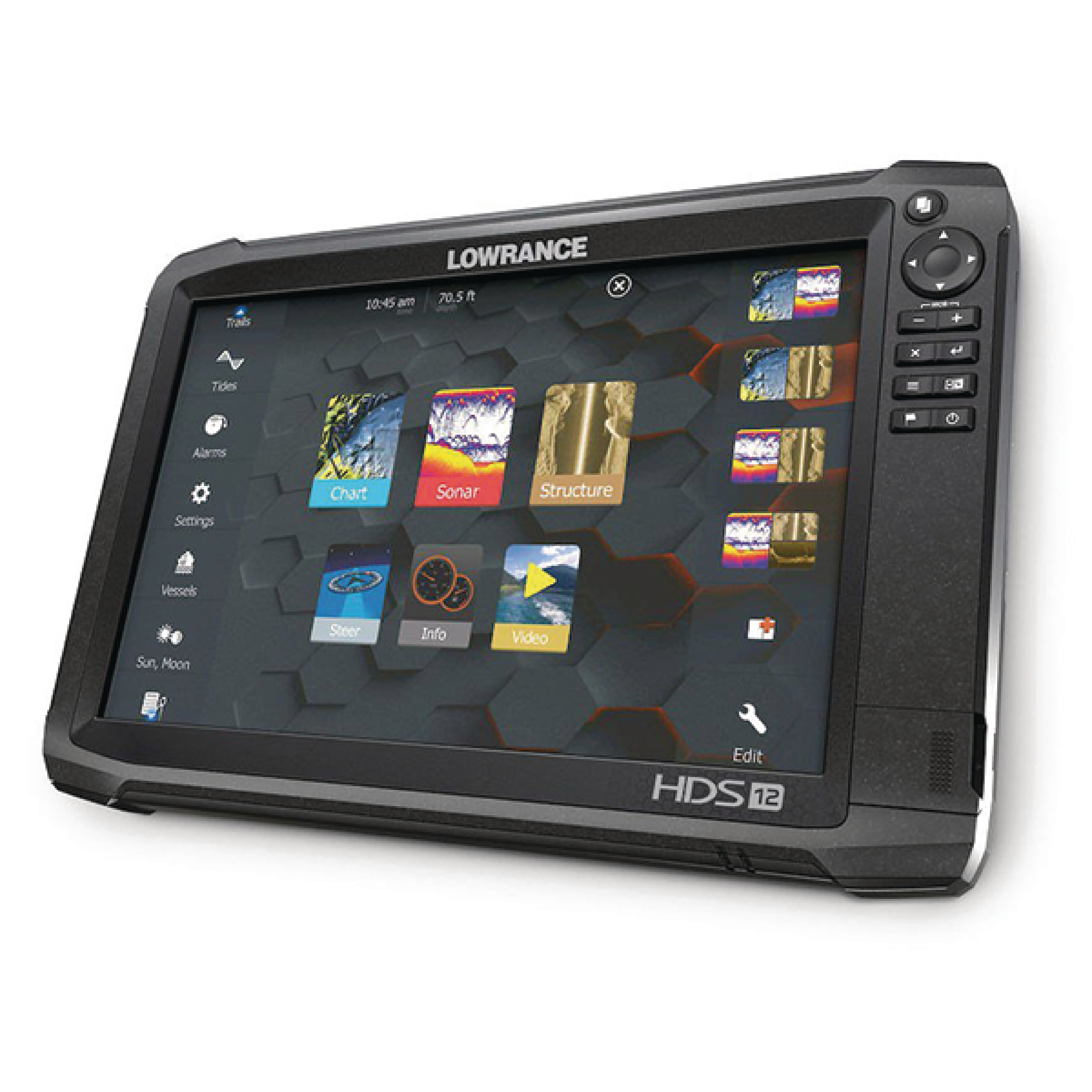 "Lowrance 000-13686-001 HDS Carbon 12 Fishfinder & Chartplotter with 12"" Display (No Transducer)"