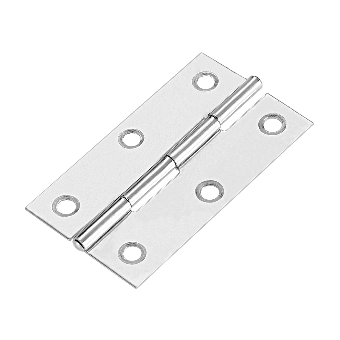 "Uxcell 2.6""  Hinge Silver Door Cabinet Hinges Fittings Brushed Chrome Plain 10pcs - image 6 de 6"