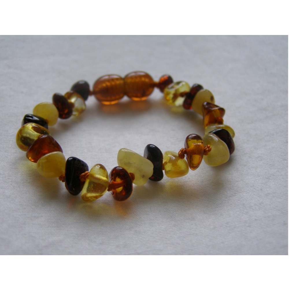 Baltic Amber Baby Teething Bracelet - Multi