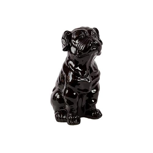 Woodland Imports Ceramic Attentive Sitting Bulldog Figurine by Woodland Imports