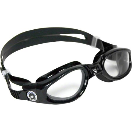 Aqua Sphere Kaiman Goggles: Black with Clear Lens