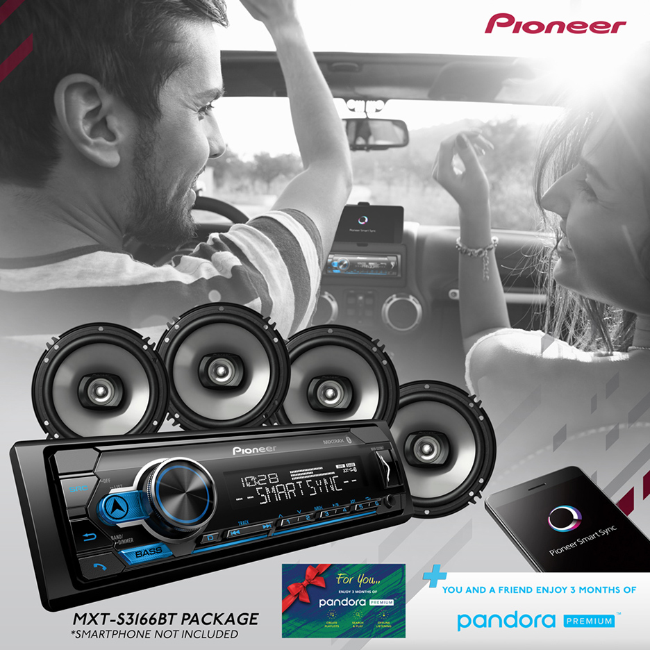 Pioneer 2018 Digital Media Receiver & Speaker Holiday Bundle with Pandora Premium Trial