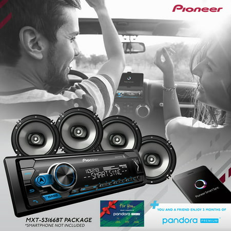 """Pioneer MXT-S3166BT Digital Media Receiver & Speaker Bundle w/Bluetooth"""