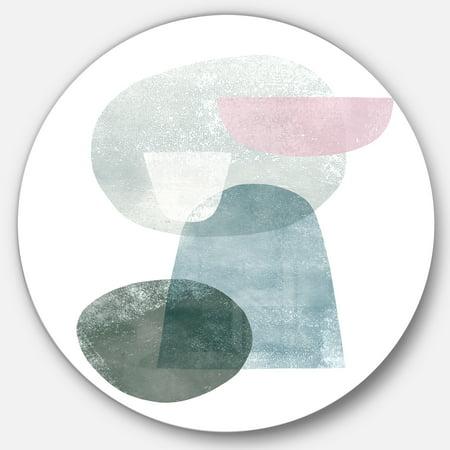 Designart 'Distressed Dream III' Geometric Metal Circle Wall Art - image 2 de 3