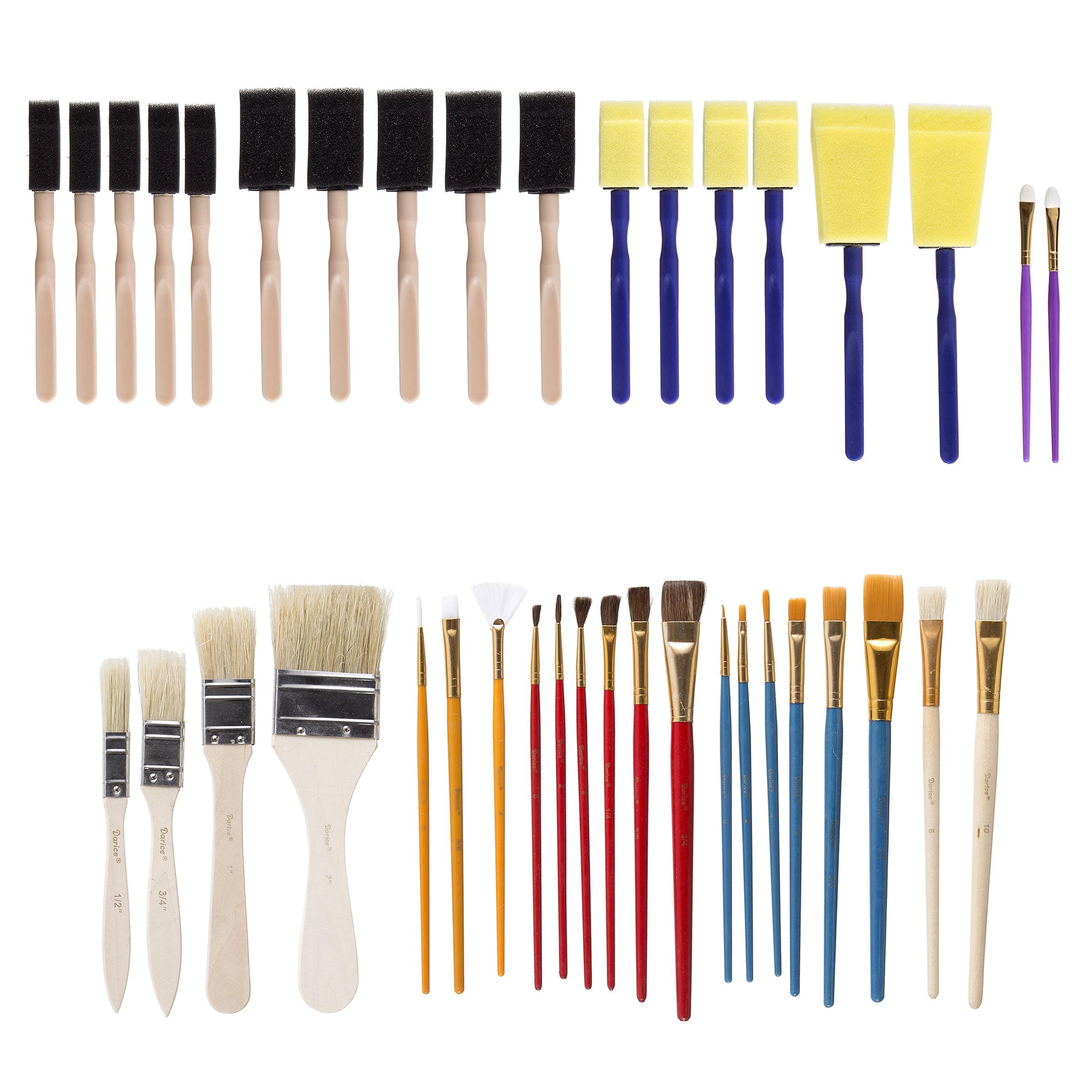 Paintbrush Set: Assorted, 40 pack