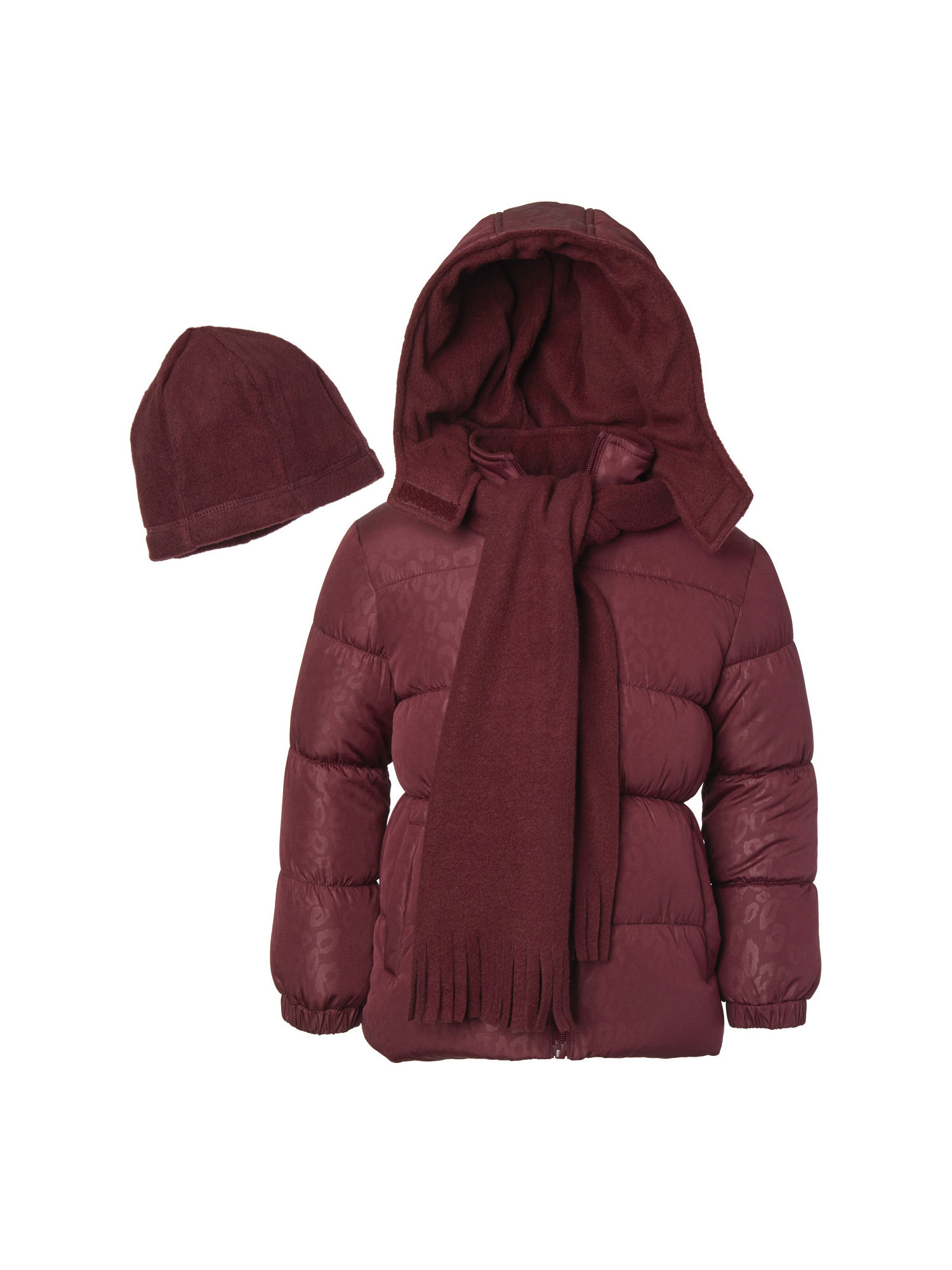 Down & Down Alternative Pink Platinum Girls Colorblock Animal Print Puffer  Outdoor Clothing Outdoor Clothing Girls