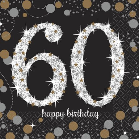 60th Birthday Color Scheme (Sparkling Celebration 60th Birthday Beverage Napkins)