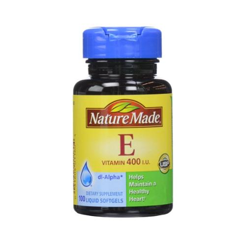 Nature Made dl-Alpha Vitamin E 400 IU Softgels 100 ea (Pack of 6)