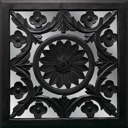 fetco home decor meryl mirrored medallion wall decor. Black Bedroom Furniture Sets. Home Design Ideas
