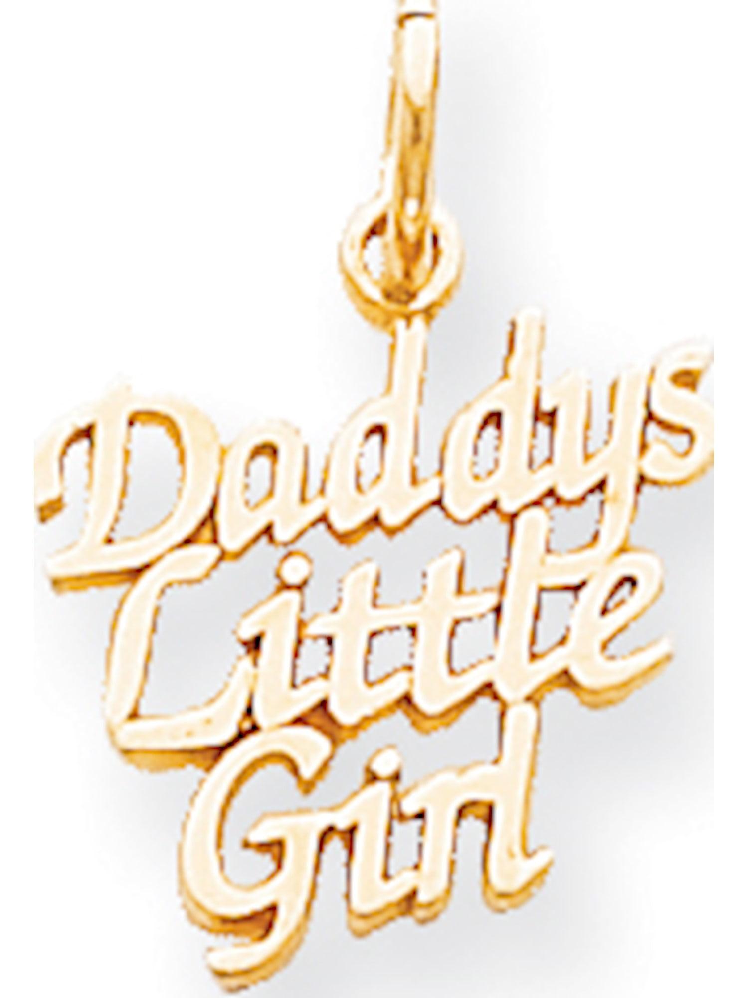 10k Yellow Gold Daddys Little Girl (8x24mm) Pendant / Charm