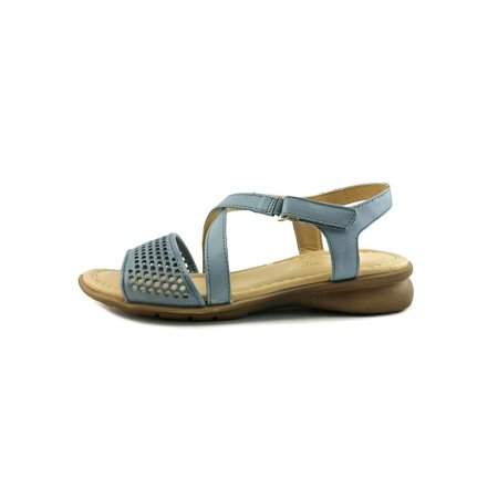 Leather Woven Sandals - Naturalizer Womens Juniper Leather Open Toe Casual Slide Sandals