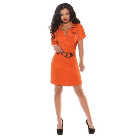 Women's Lock Up Prisoner Costume (Prisoner Costume Women)
