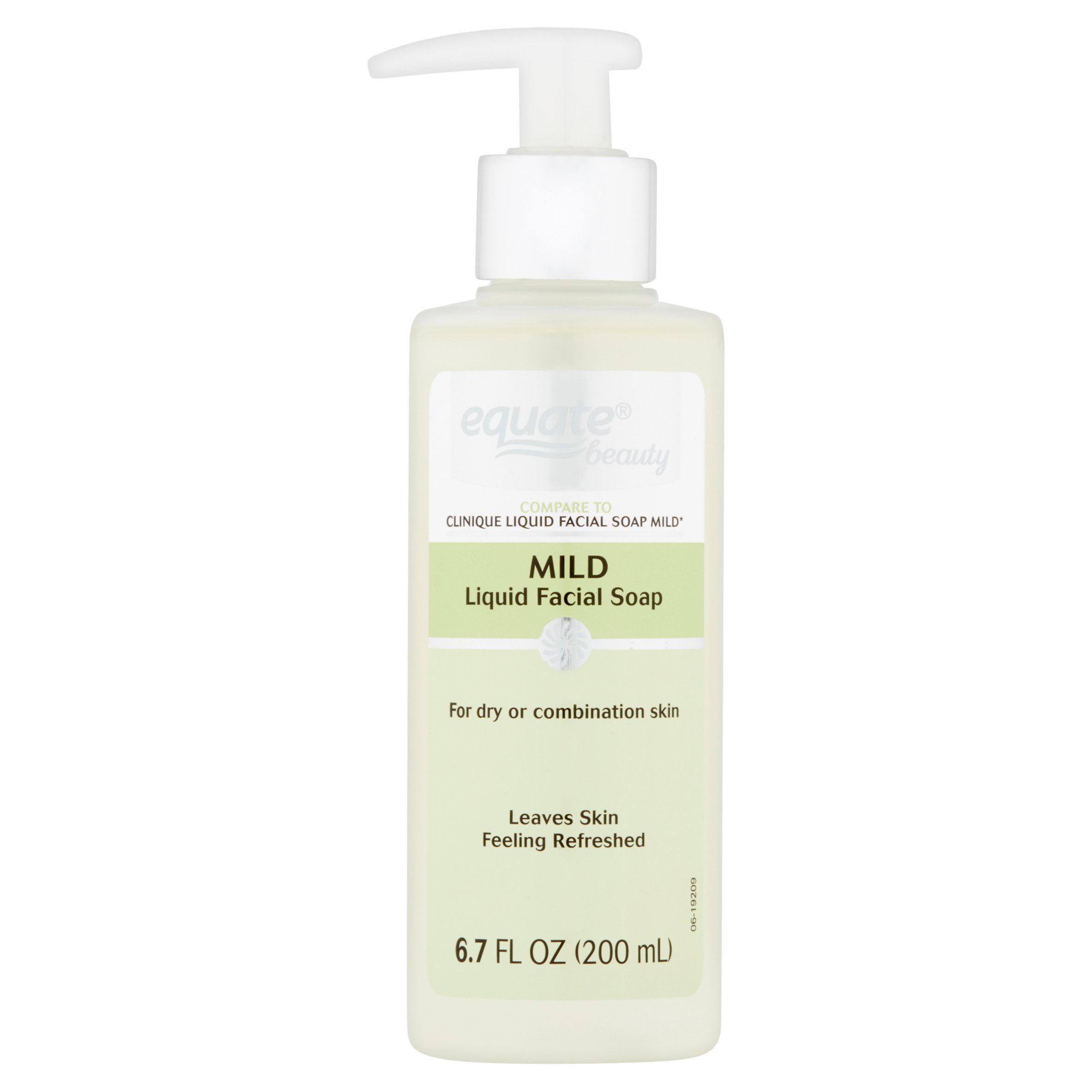 Equate Beauty Mild Liquid Facial Soap, 6.7 Oz