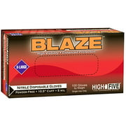 "Blaze 10.5"" Nitrile Exam Gloves"