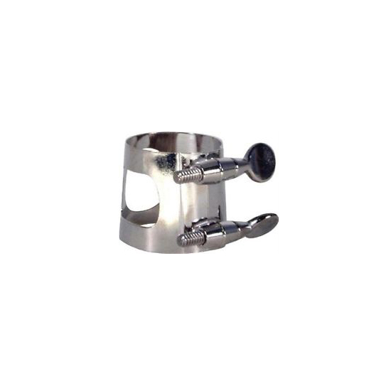 APM Nickel Plated Bb Clarinet Ligature, Bagged by American Plating