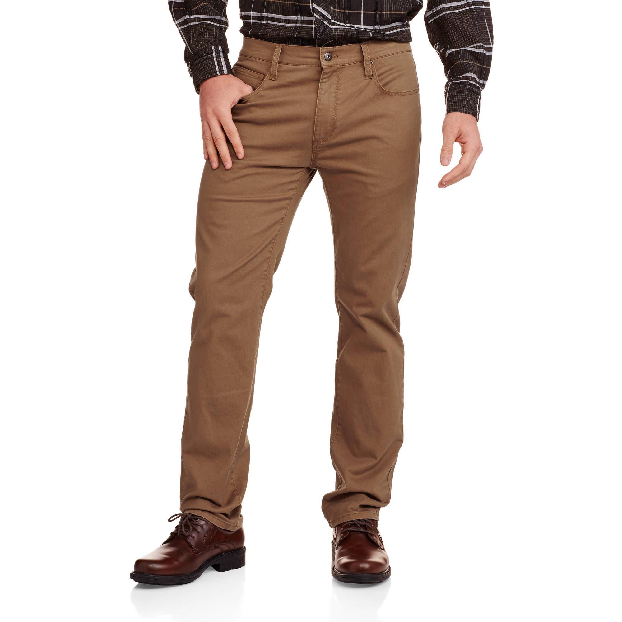 No Boundaries Men's 5 Pocket Stretch Twill Pants - Walmart.com