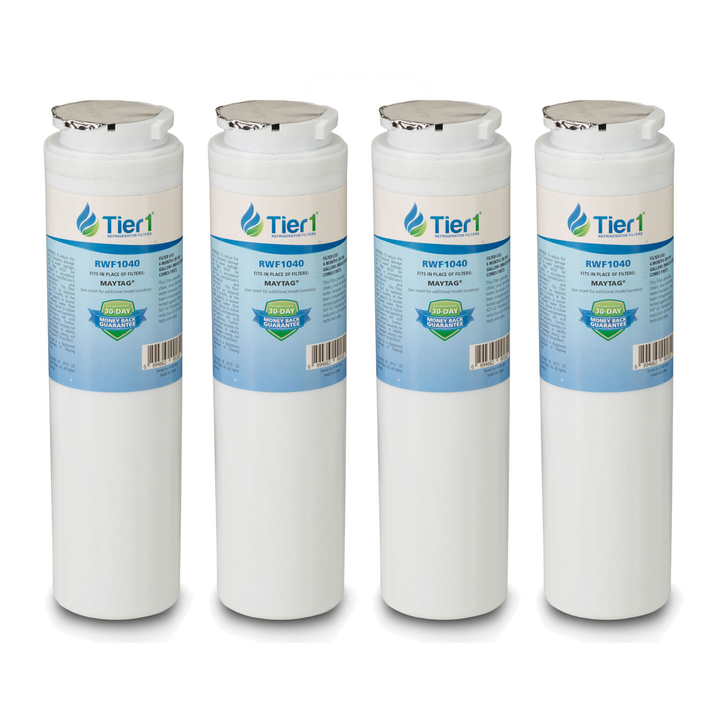 Tier1 UKF8001 Comparable Replacement for Maytag UKF8001, EDR4RXD1, Whirlpool 4396395, PUR, Jenn-Air, Puriclean II, 469006, 469005 Refrigerator Water Filter