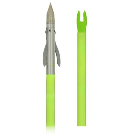 Muzzy Iron 2 Blade Fish Point w/ Chartreuse Arrow