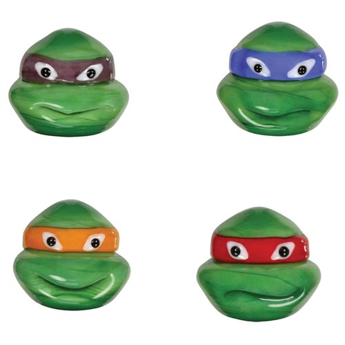 Teenage Mutant Ninja Turtles Glass World Miniature Glass Figurines, 4-Pack, Donatello/Leonardo/Michelangelo/Raphael