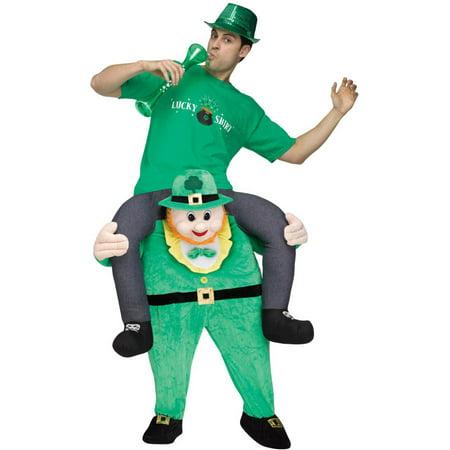 Leprechaun Riding on Shoulder Men's Adult Halloween - Irish Leprechaun Halloween Costumes