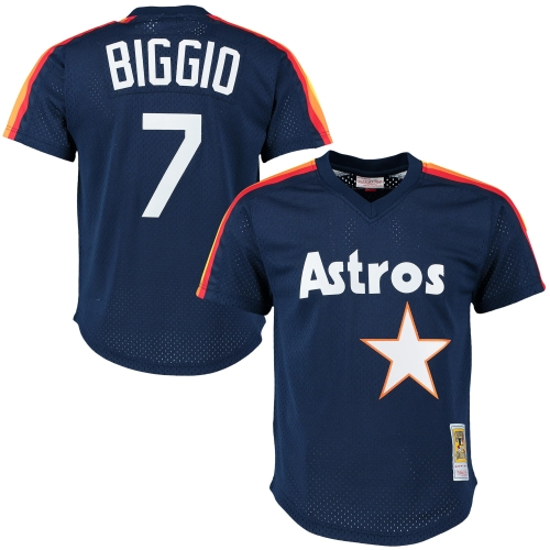 Craig Biggio Houston Astros Mitchell & Ness Cooperstown Mesh Batting Practice Jersey - Navy
