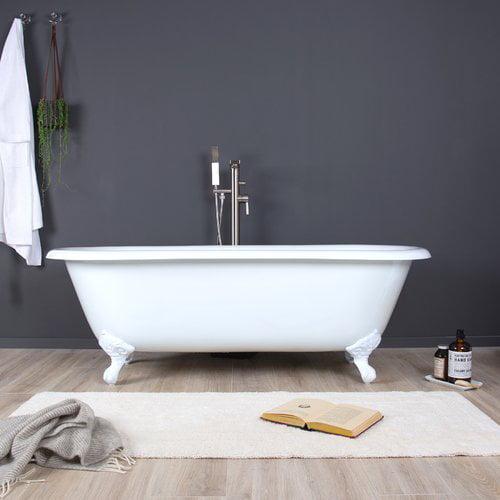 Maykke Shirley 67'' x 31'' Freestanding Soaking Bathtub