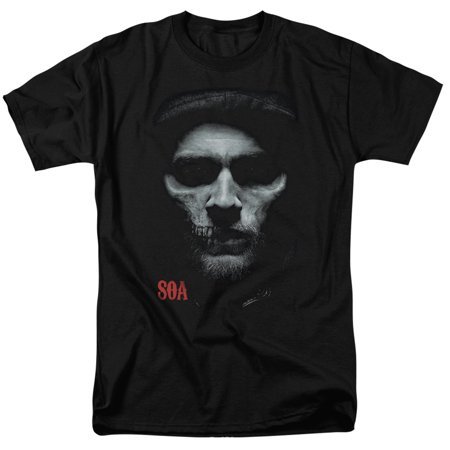 Trevco SONS OF ANARCHY SKULL FACE Black Adult Unisex T-Shirt (Son Halloween Daphne)