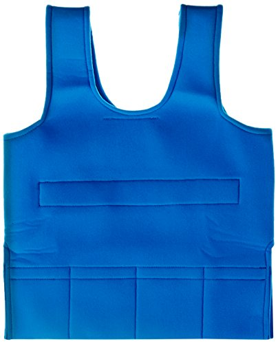 Abilitations Weighted 3 Pound Vest, 30 x 15 to 20 Inches, Blue, Small - image 1 de 1