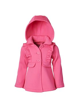 Pink Platinum Baby Toddler Girl Fleece Ruffle Jacket