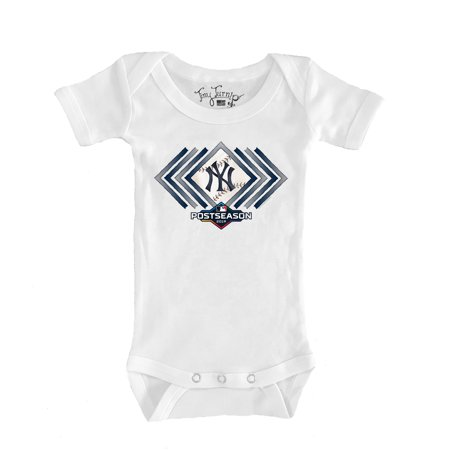 New York Yankees Tiny Turnip Infant 2019 Postseason Bodysuit - White