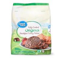 Great Value Original Turkey Breakfast Patties, 24.9 oz