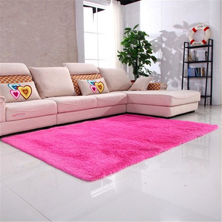63x47 2 Quot Inch Rose Red Modern Soft Fluffy Floor Rug Anti