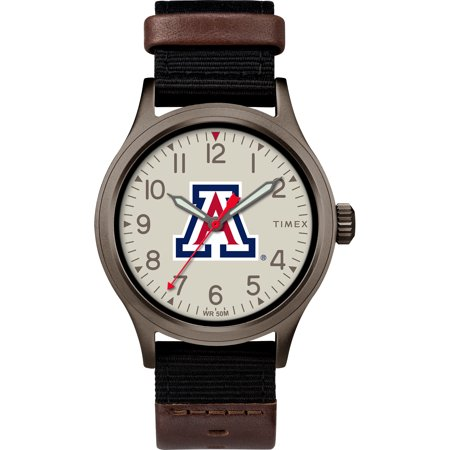Wildcats Watch - Timex - NCAA Tribute Collection Clutch Men's Watch, University of Arizona Wildcats