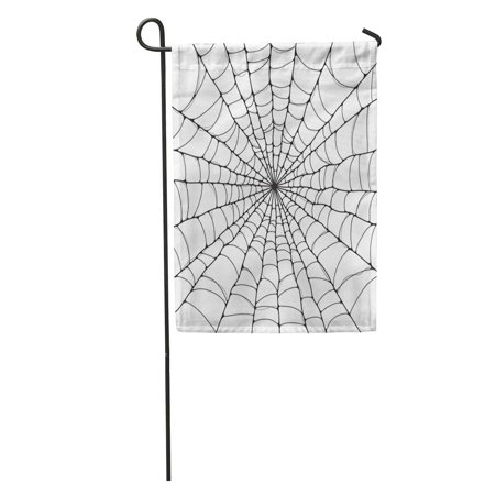 Old Black And White Halloween Cartoons (SIDONKU Halloween Spider Cartoon Black White Celebration Hanging Netting Outline Garden Flag Decorative Flag House Banner 28x40)