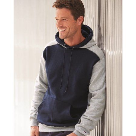 - Champion Double Dry Eco Colorblocked Hooded Sweatshirt