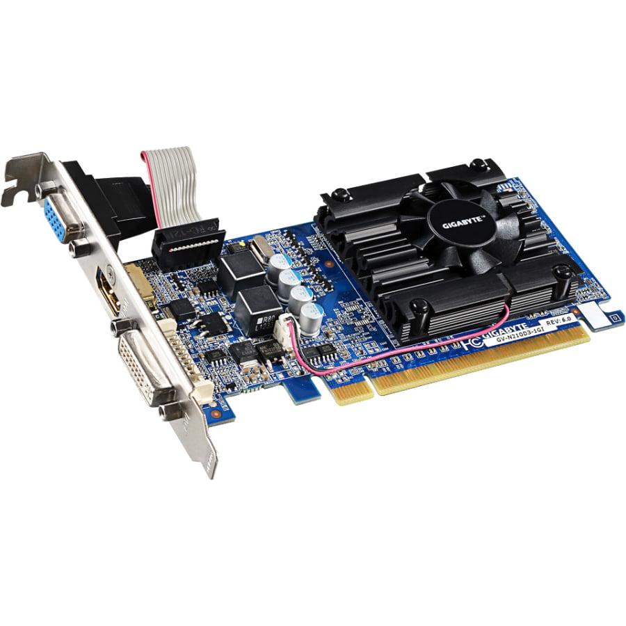 Gigabyte Hd Experience Gv-n210d3-1gi [rev. 6.0] Geforce 210 Graphic Card - 520 Mhz Core - 1 Gb Ddr3 Sdram - Pci Express 2.0 - 1200 Mhz Memory Clock - 2560 X 1600 - Fan Cooler - (gv-n210d3-1girev6-0)
