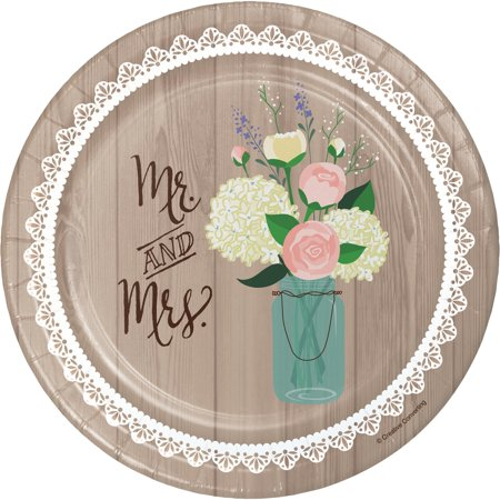 Creative Converting Rustic Wedding Dessert Plates, 8 ct